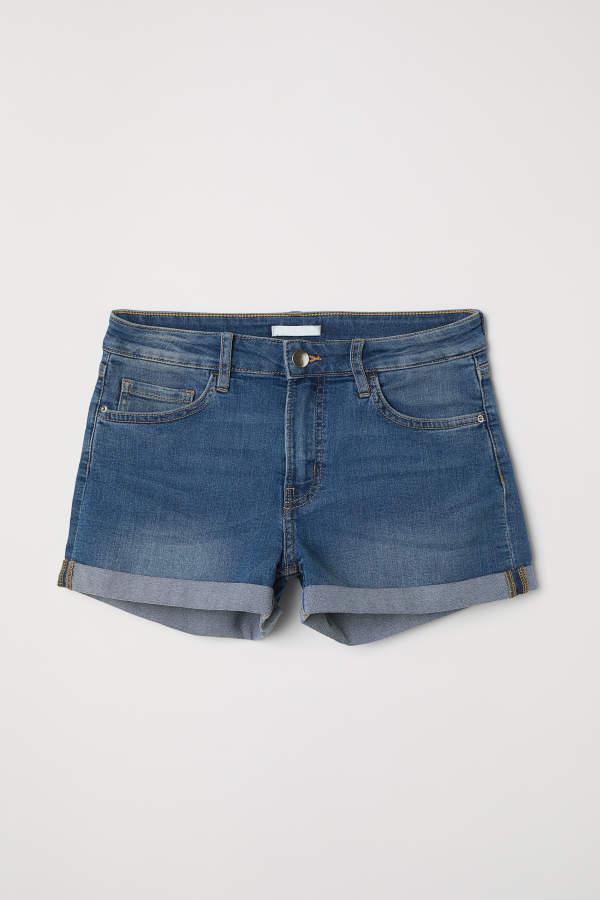 H&M Denim Shorts - Denim blue - Women