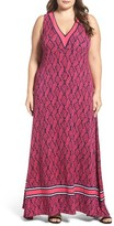 MICHAEL Michael Kors Plus Size Women's Mamba A-Line Maxi Dress