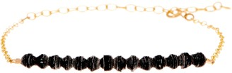 31 Bits Mini Beaded Optimist Goldtone Adj. Bar Bracelet