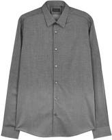 Pal Zileri Grey Dégradé Cotton Shirt