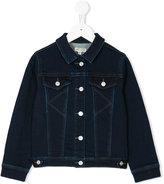 Kenzo button-down denim jacket - kids - Cotton/Polyester/Spandex/Elastane/Viscose - 2 yrs