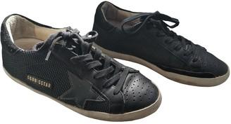 Golden Goose V-Star Black Leather Trainers