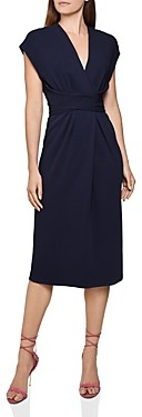 Reiss Maxime Belted Faux Wrap Dress