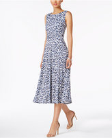 Jessica Howard Petite Floral-Print Midi Dress