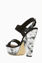 Nasty Gal Shoe Cult Dusted Platform - Silver