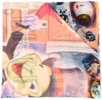 Faliero Sarti Pinocchio print scarf