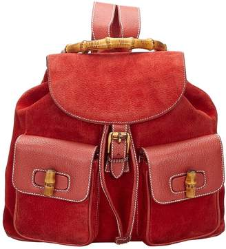 Gucci Bamboo Red Suede Bags