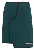 Balenciaga Women's Green Viscose Skirt.