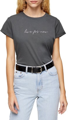 Topshop Live For Now Tee