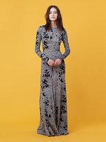 Diane von Furstenberg Paneled Floor Length Dress