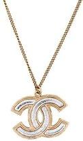 Chanel CC Resin Pendant Necklace
