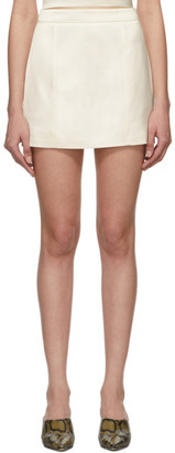 GAUGE81 Off-White Satin Miniskirt