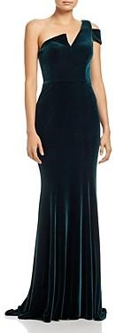 Aqua Velvet One-Shoulder Gown - 100% Exclusive