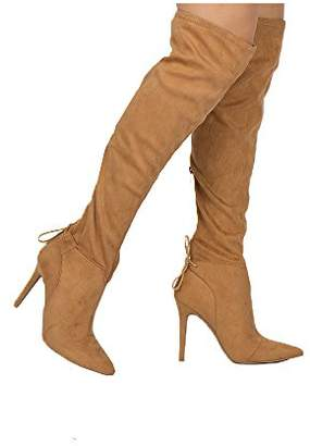 Qupid Women's MILIA-111X Over The Knee Boot