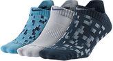 Nike Women's Dri-FIT Graphic No Show 3-Pack Socks