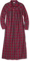 L.L. Bean Tartan Flannel Nightgown