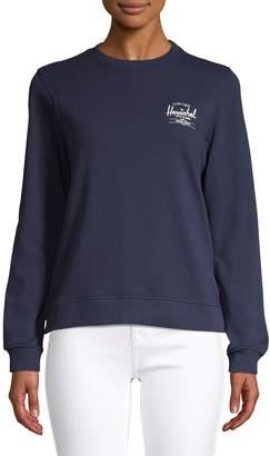 Herschel Logo Ribbed Crew Neck Sweatshirt