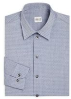 Armani Collezioni Printed Regular Fit Dress Shirt