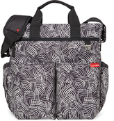 Skip Hop Black Swirl Duo Signature Tote Diaper Bag