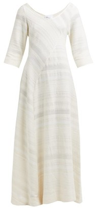 Lisa Marie Fernandez Bias-cut Cotton Maxi Dress - Womens - Cream
