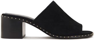 Maje Studded Suede Sandals