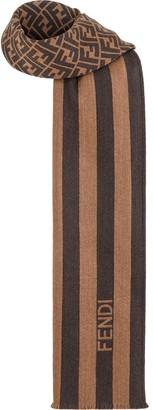 Fendi striped FF motif scarf