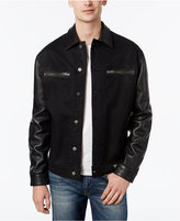 GUESS Men's 1981 Leather Blocked Jacket