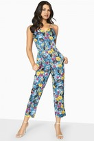 Girls On Film Florence Floral Jumpsuit