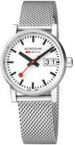Mondaine Women's 'SBB' Swiss Quartz Stainless Steel Casual Watch, Color:Silver-Toned (Model: MSE.30210.SM)