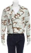 Givenchy Camouflage Print Moto Jacket