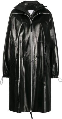 Bottega Veneta High-Shine Hooded Coat