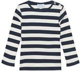 Noa Noa Miniature Boy Basic 2x2 Rib Striped Dress Blue