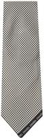 Chanel Vintage Black Houndstooth Silk Jacquard Tie