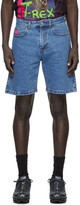 GCDS Blue Bucket Bermuda Shorts