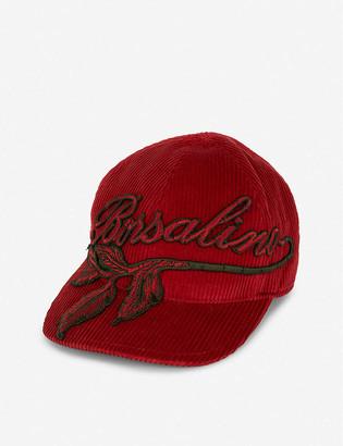 Borsalino Logo-embroidered cotton and cashmere-blend baseball cap