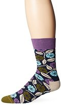 Happy Socks Men's Desert Flower Combed Cotton Crew Socks