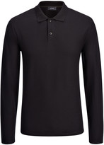 Ice Jersey Polo Top In Black