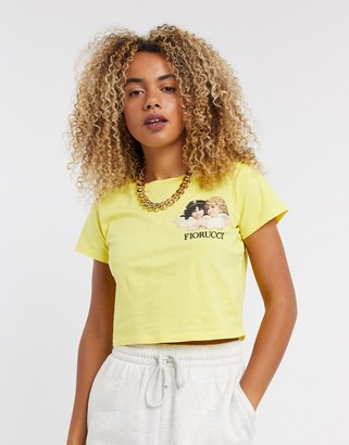 Fiorucci new angels baby tee in yellow