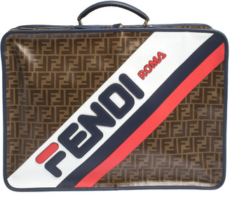 Fendi Zucca Coated Canvas and Leather Mania FF Suitcase