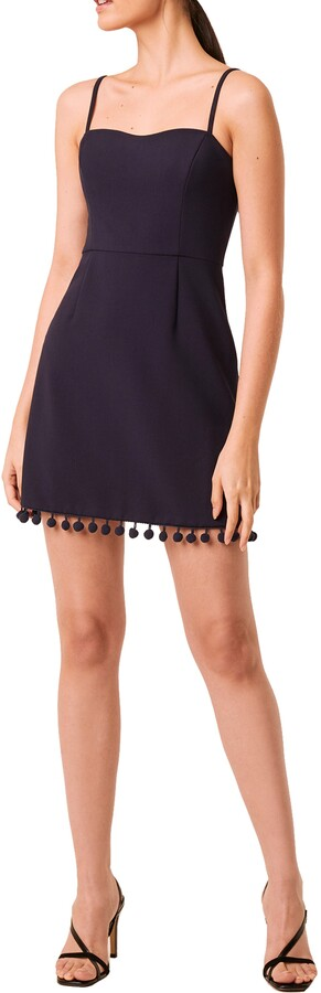 Thumbnail for your product : French Connection Whisper Pompom Trim Minidress