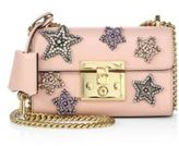 Gucci Padlock Star-Embroidered Leather Chain Shoulder Bag