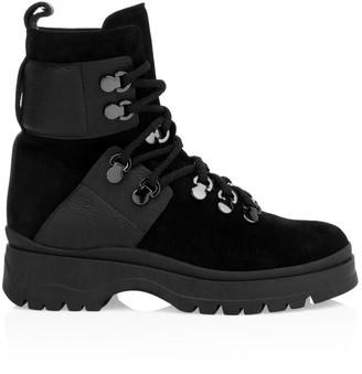 Aquatalia Starla Suede & Leather Hiking Boots