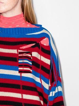 Charles Jeffrey Loverboy Cut-Out Knitted Jumper