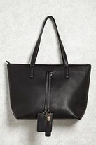 Forever 21 FOREVER 21+ Faux Leather Tote Handbag