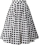 Penelope Vintage 1950s Vintage Retro A-line Printed Swing Rockabilly Skirt (US20, )