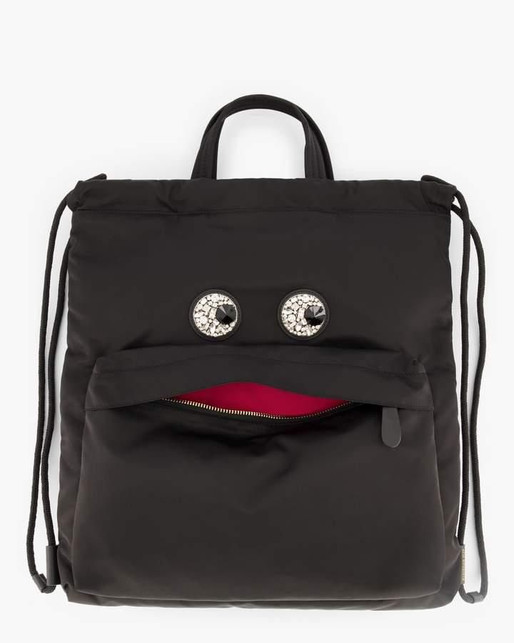 Anya Hindmarch Crystal-Eyes Drawstring Backpack