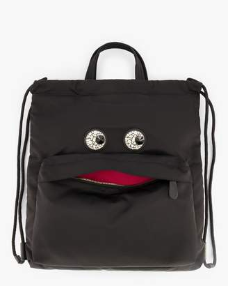 Anya Hindmarch Crystal-Eyes Drawstring Backpack