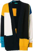 Paura colour-block cardigan