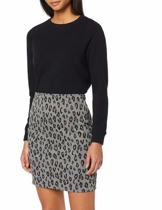 Dorothy Perkins Women's Animal Pull On Mini Skirt