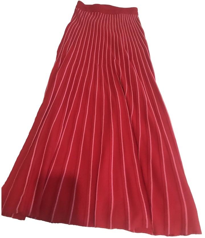 Sandro Fall Winter 2018 Red Skirt for Women